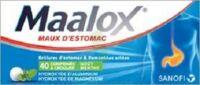 MAALOX HYDROXYDE D'ALUMINIUM/HYDROXYDE DE MAGNESIUM 400 mg/400 mg Cpr à croquer maux d'estomac Plq/40 à BAR-SUR-AUBE